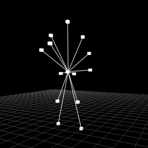 Input Parameters Visualisation: Distance of joints to center of mass