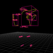 Input Parameters Visualisation: Joint motion paths and their bounding boxes
